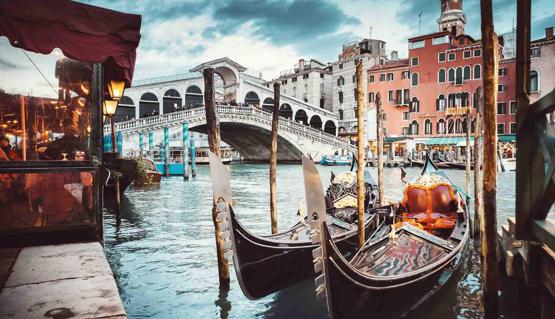 Rialto Bridge view, Venice, Italy