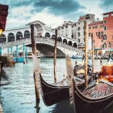 Rialto Bridge view, Venice, Italy
